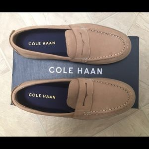 Cole Haan Soft Tan Penny Leather Loafer NEW